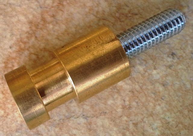 Zapfen für Theaterclamp mit M8 Gewindebolzen