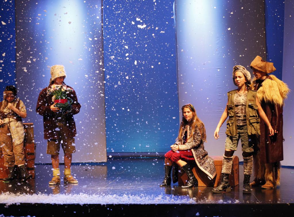 Schneemaschine im Theater